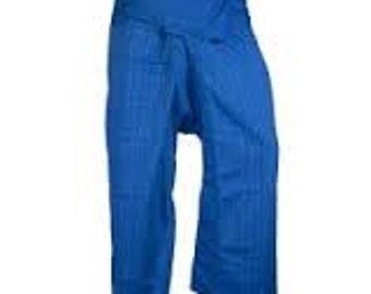 100% THAI COTTON ~ Blue Fisherman Pants!