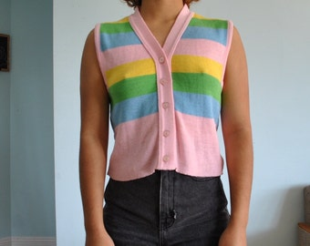 Vintage sz S sleeveless shirt tank top/ vest