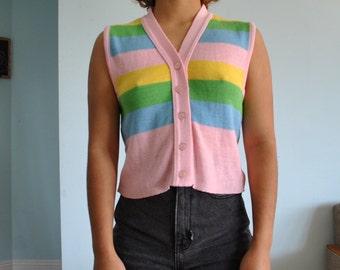 Vintage sz S sleeveless shirt tank top/ vest