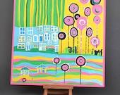 "Decorative panel ""City"" (based on F.Hundertwasser)"