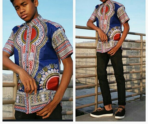 African Shirt- Kids dashiki shirt for Boys and Girls. Relaxing and comfortable way to show off your heritage. Loose fitting, available in all kente colors sizes.
