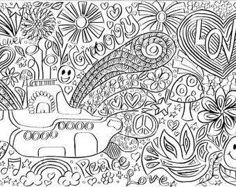 ENCHANTED WOODLAND FOREST Kids Giant Colouring Poster