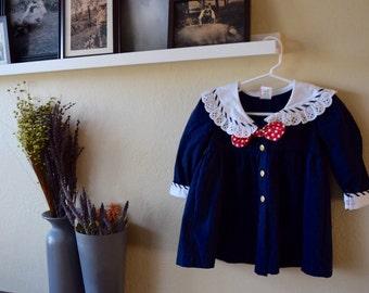 Girls Long Sleeve Naval Dress