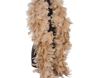 Camel 150 Gram Turkey Feather Boas - Turkey Ruff - Eagle Costume - Halloween - Wedding - Mother's Day - Birthday - Gift - Present - Prom