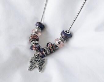 Necklace - Purple Butterfly