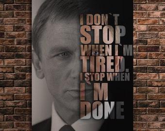 James Bond 007 Art Famous People Quotes Print