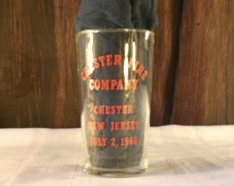 Chester Fire Company Firemen's Glass