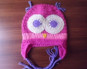Babies Owl Hat With Earflaps