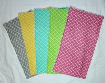 Baby Burp Cloths Set of 5, Baby Gift