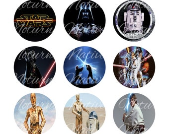 INSTANT DOWNLOAD !!! -  Star Wars   - Digital Collage 1 inch Bottlecap Images - Buy 1 Get 1 Free !!!