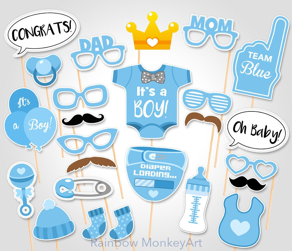 Massif image in baby shower photo booth props printable