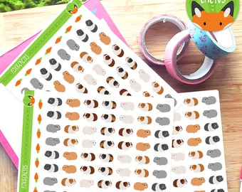 Guinea Pig - Cute Cavey Pet - Planner Stickers