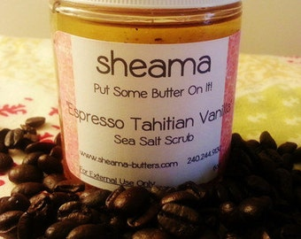 Sheama Espresso Tahitian Vanilla Dead Sea Salt Scrub