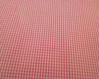 "Rasberry Gingham Fabric, Cotton Fabric, Fabric Finders, Sewing fabric, Apparel Fabric, Yardage, 60"" fabric"