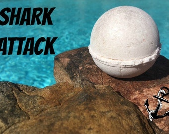 SHARK bath bomb, hibiscus bath fizzy