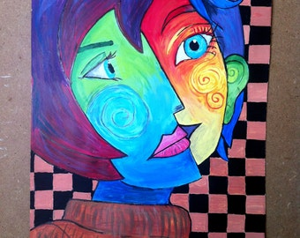 Pablo Picasso - Drawing by Pirouline; Reproduction; Acrylic Painting; Abstract Painting;  Expressionist Art; Modern Art; Original Painting