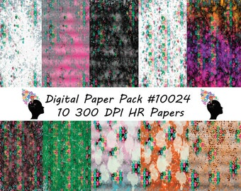 Digital Paper Pack, High Resolution Papers,10( 12 x 12, 300 dpi
