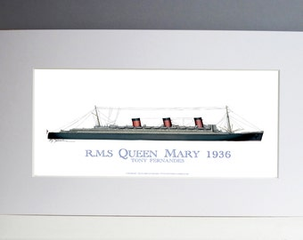 RMS Queen Mary 1936 from Tony Fernandes Design (print only)