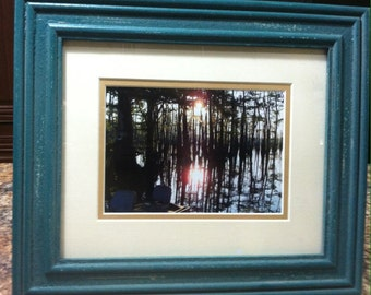 Sunset on Cheniere Lake, Framed & Matted Photography