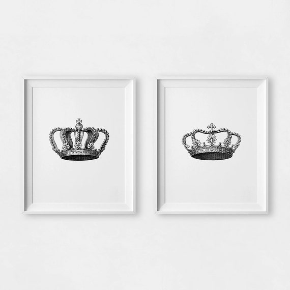 King And Queen Wall Decor King And Queen Crown Couples Gift