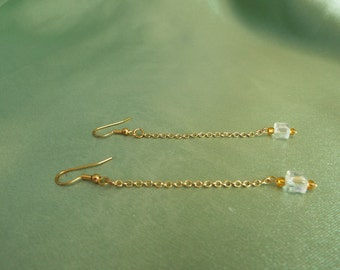 Gold and Crystal Drop Earring