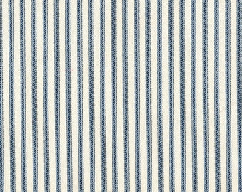 Euro Sham, Ruffled, Nautical Blue Ticking Stripe