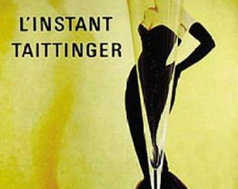 L'instant Taittinger Art Print - Vintage Champagne Poster  - Rare Hot New 24x36