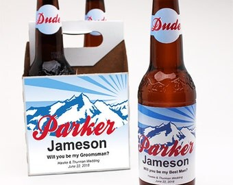 4 Pack Personalized Coors Light Beer Bottle Label Kit (PPDJM732497)