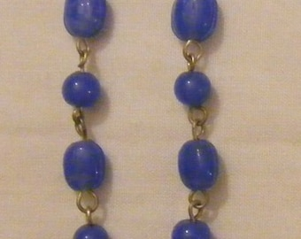Gold and lapis earrings