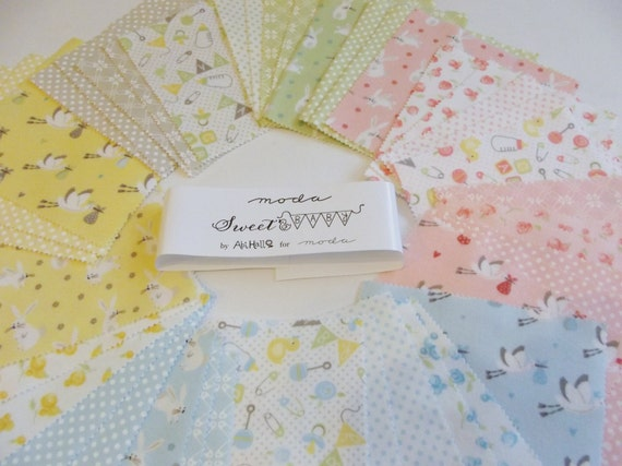 moda baby 5 charm pack of 42 squares 100 flannel
