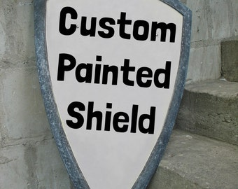 Custom Painted Shield - about You design