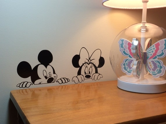 mickey and minnie vinyl wall decal disney wall decal sticker amazon com roommates rmk1508gm mickey mouse peel and