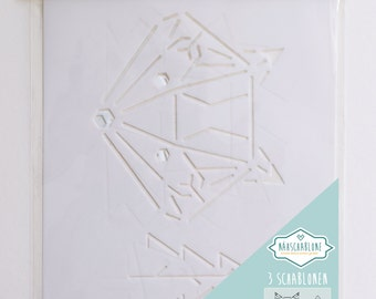 Sewing templates, set of 3