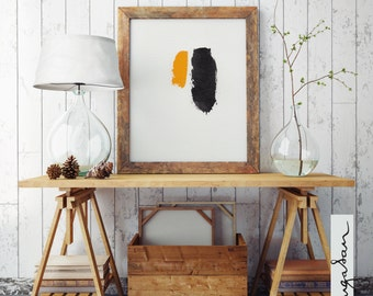 Minimalist abstract art painting, A4 mixed media painting on paper