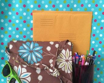 Brown Floral Messenger Bag
