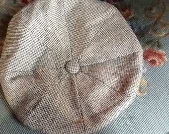 Vintage newsboy wool cap made in Minneapolis Minnesota size small