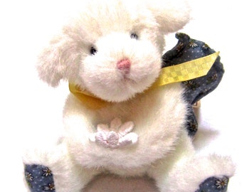 """Vintage BOYD'S BEAR  collectibles item  """"Lulu"""" is a baby white ANGEL bear"""