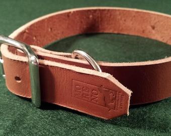 Handmade custom leather dog collar