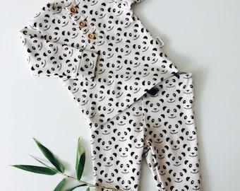 boy/girl panda pajama