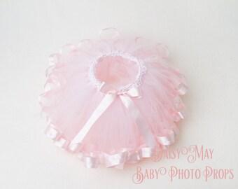 Ribbon edged Tutu, Pale Pink, photo prop