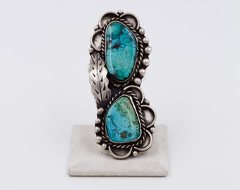 LARGE Native American, Old Pawn Turquoise ring