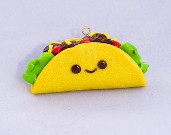 Mini Clay Taco Charm, Taco Charm, Clay Charm, Mini Taco Clay Charm, Key chain charm, Charm Bracelet, Cell Phone Charm, Desk Decor