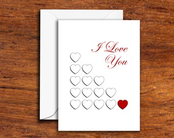 Love-Romance - I Love You (1 Red Heart)
