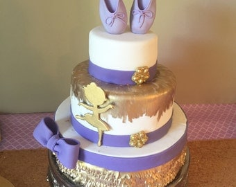 Edible Ballerina slippers cake topper gumpaste/fondant purple ready to go!