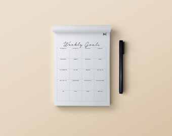 Weekly Goals Pad