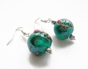 Pearl Earrings glass