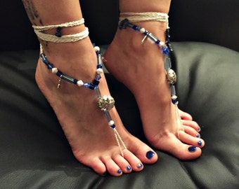 """Barefoot sandals """"Bambi in the sparkling space"""""""