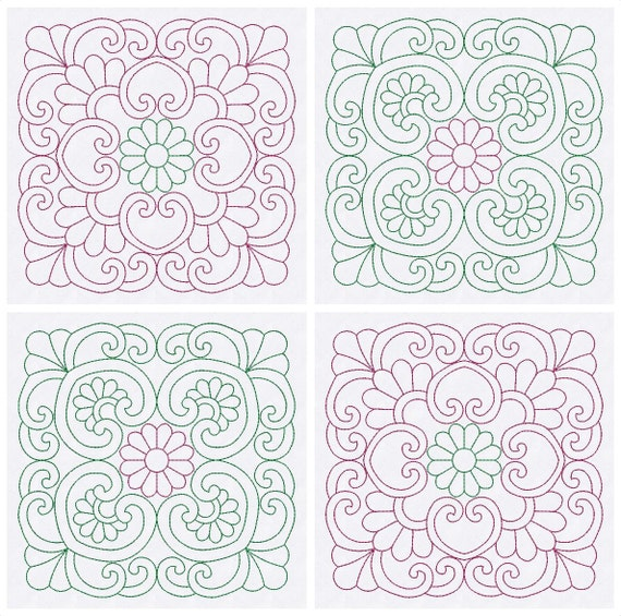 Quilt blocks embroidery designs quilting patterns