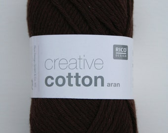 Rico Creative Cotton Aran Brown 058