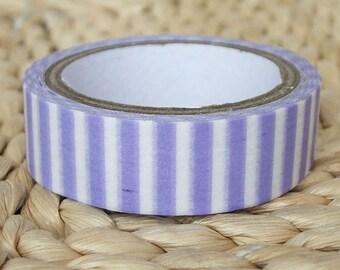 purple stripe washi masking tape 7m Purple washi tape stripe pattern sticker tape diary decor scrapbook gift wrapping tape